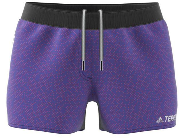 adidas TERREX Primeblue Trail grafiske shorts Damer, violet